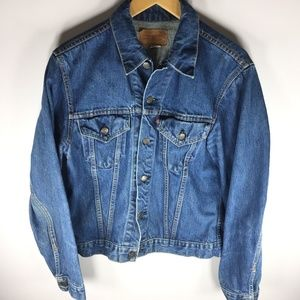 Levi's Blue Denim Jean Jacket Button Front Women's